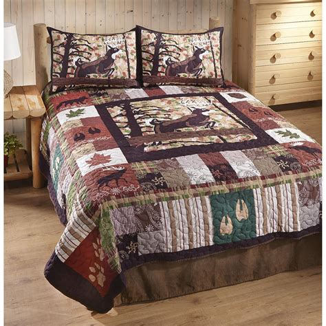 Lodge Quilts Bedding by White Lodge Quilt Set 3 639051 Quilts At