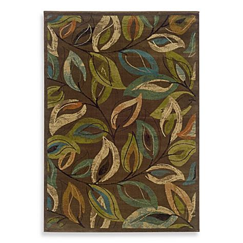 Emerson Large Multi Brown weavers emerson area rug in multi leaves www