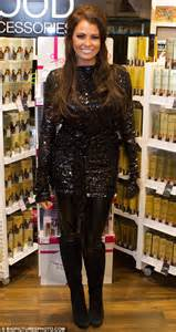 Sparkly jessica looked very festive in her black sequinned top which
