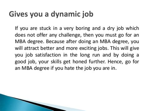 Any Reason For A To An Mba by Top 10 Reasons To Pursue An Mba