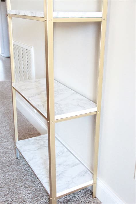 diy ikea the easiest diy hack to glam your 14 99 ikea hyllis shelf