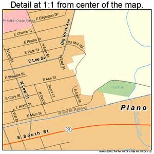 where is plano on the map plano illinois map 1760352