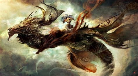 Concept Art Fantasy Illustrations Photoshopcoolvibe Digital Art | concept art abstract dragon 2d digital concept art