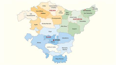 el pais vasco mapa de provincias pa 237 s vasco