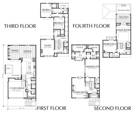 large townhouse floor plans 4 story townhouse floor plan for sale