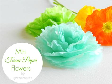 Flower Tissue Paper Craft - simple tissue paper flowers 30 minute crafts