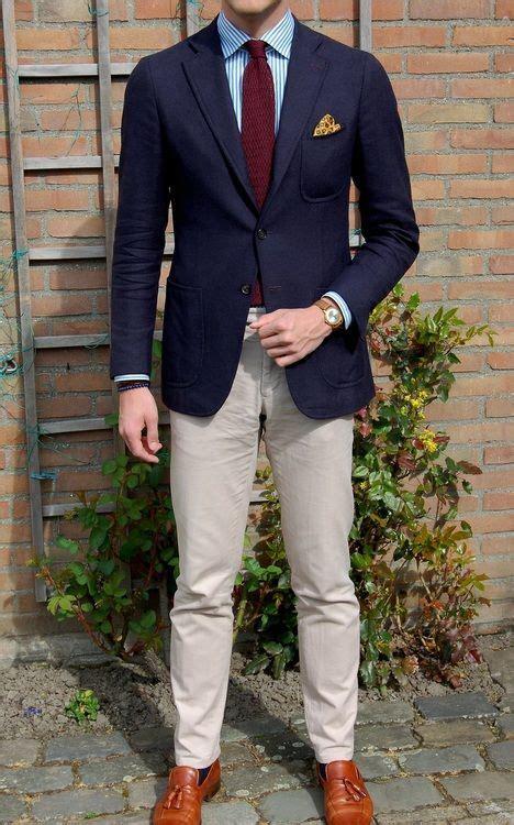 de moda blazer azul marino camisa de vestir blanca pantalon de navy sport coat white shirt with blue dress stripes