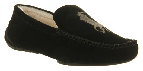 mens ralph slippers ralph paulson ii slipper black suede shearling in
