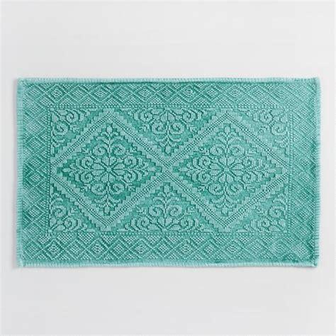 world market bath rugs teal sunfade woven bath mat world market