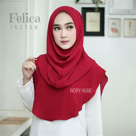 Jilbab Instan Cantik Untuk Pesta jilbab terbaru 2018 jilbab instan felica praktis langsung pakai bundaku net