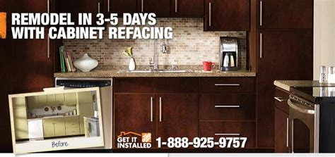 home depot kitchen cabinet refacing kitchen cabinet refacing by the professionals at the home