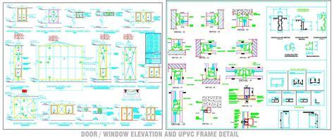 upvc window sections dwg upvc door window detail drawing plan n design