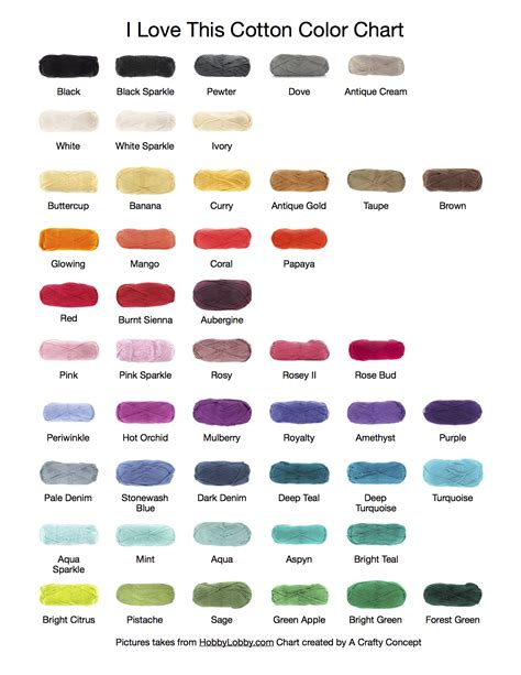 i this yarn colors i this cotton color chart a crafty concept