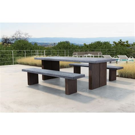home depot outdoor dining table zuo wood outdoor dining table 100800 the home depot