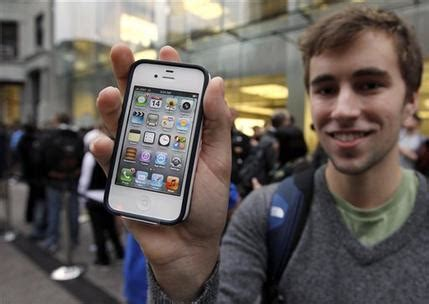 buyers camp out for iphone, though crowds smaller