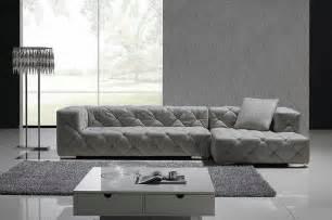 modern sofa grey grey italian leather modern sectional sofa w crystals