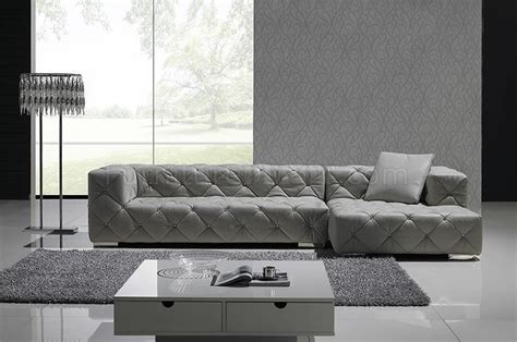 modern gray sofa grey full italian leather modern sectional sofa w crystals