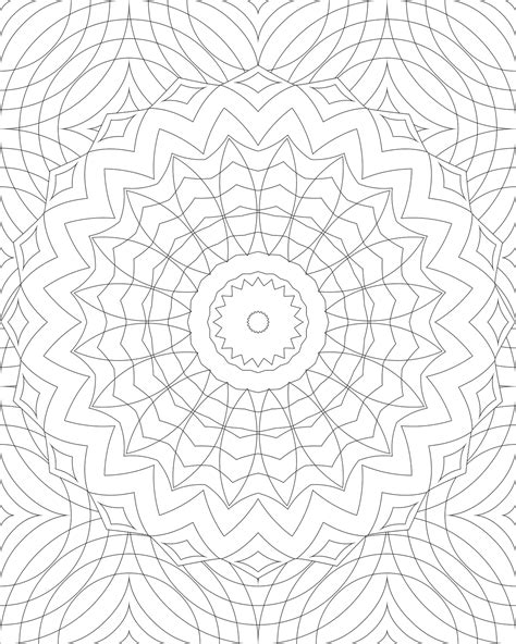 mandala pattern png difficult level mandala coloring pages large transparent