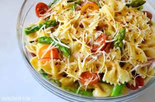 Pasta Salad Dressings by Asparagus Pasta Salad With Italian Dressing Just A Taste