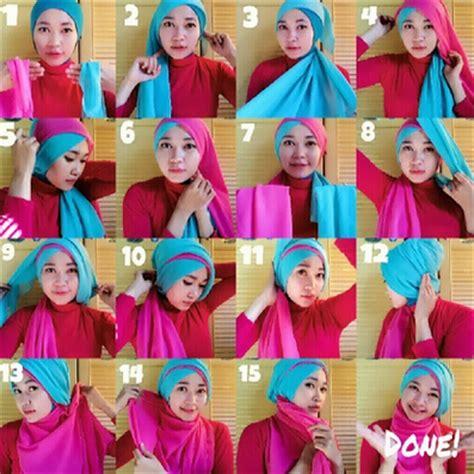 video tutorial jilbab wisuda silang tumpuk gambar cara memakai hijab modern wisuda silang tumpuk