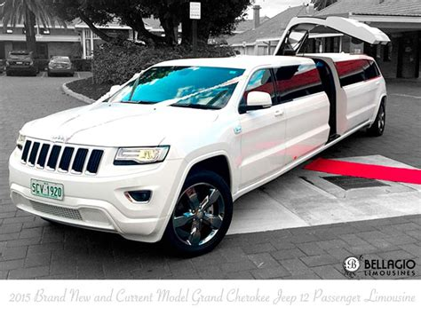 White Grand Jeep Limousine Perth Bellagio