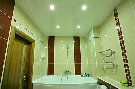 Suspended Ceiling Bathroom Stretch Ceiling In The Bathroom Photo Build Daily