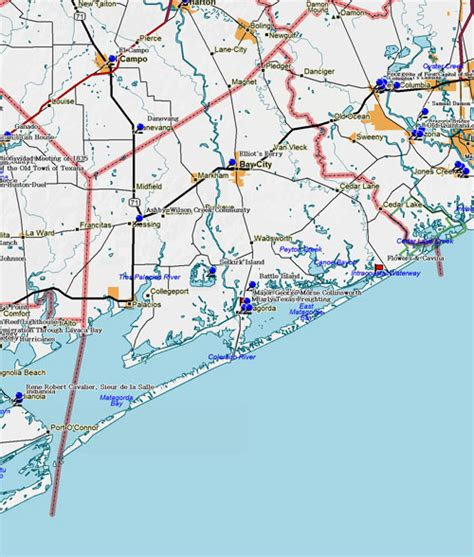 matagorda texas map fort tours matagorda county historical markers