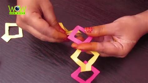 How To Make Paper Glue - how to make diy paper chain without glue easy tutorial