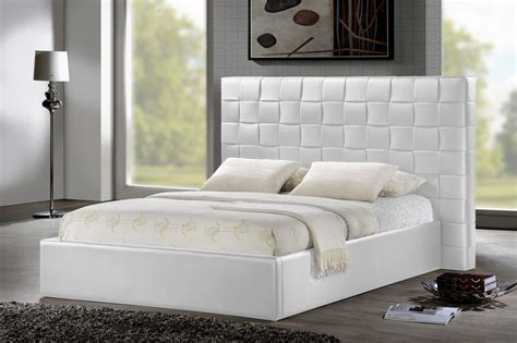white upholstered headboard queen baxton studio bbt6352 white queen prenetta white modern