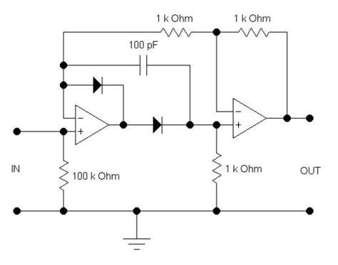 rectifier circuit using op more op circuits