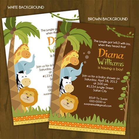 safari baby shower invitation 183 splashbox printables 183 store powered by storenvy