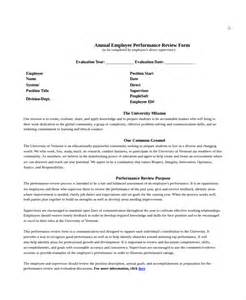 Annual Performance Review Template by Employee Review Templates 10 Free Pdf Documents