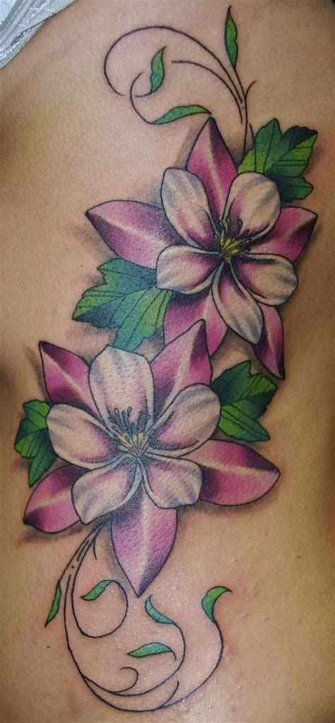 flower vine wrist tattoos vine flower on rib