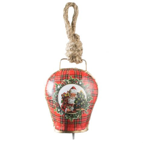 5 quot vintage christmas bell ornament gift santa xt230a