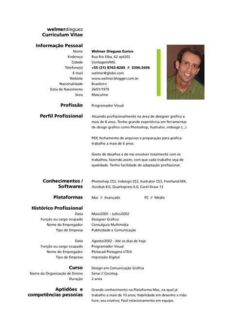 Modelo Curriculum Vitae Brasil Modelo De Curriculum Vitae No Brasil Modelo De Curriculum Vitae