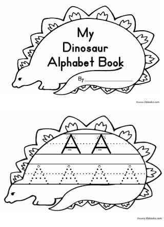 Printable Dinosaur Alphabet Book | my dinosaur alphabet books
