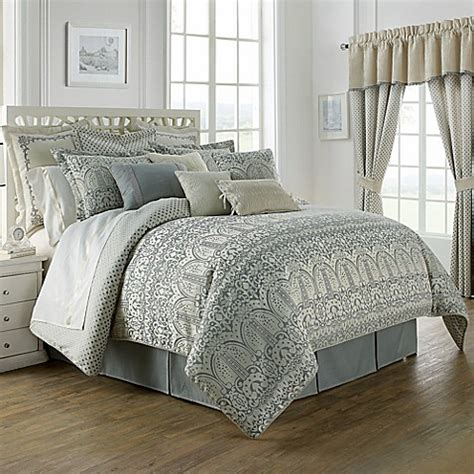 bed bath and beyond waterford waterford 174 linens allure reversible comforter set bed