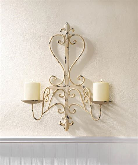 Fleur De Lis Home Decor Wholesale Antiqued Fleur De Lis Candle Sconce Wholesale At Koehler Home Decor