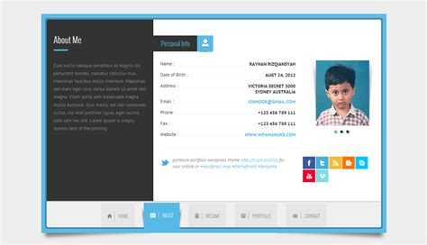 Resume Html Template by Rayhan Html Resume Template Cv Vcard By Wpamanuke