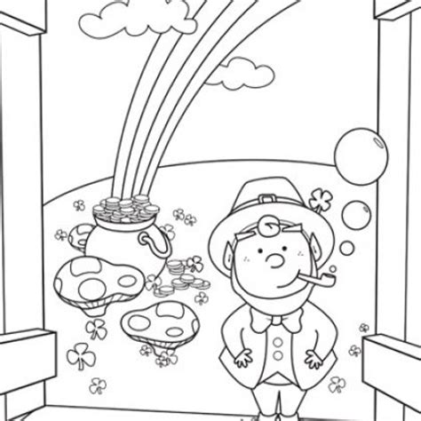 baby leprechaun coloring page 7 best coloring pages images on pinterest coloring