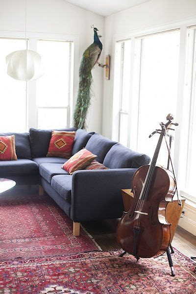 image result  dark gray couch  persian rug modern