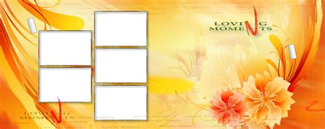 photoshop cornici psd wedding karizma photo frame album 12x36