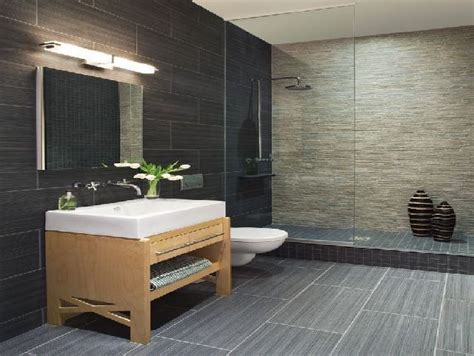 Modern Bathroom Tiles 2014 by Same Tile In Different Colors And Sizes On Walls And
