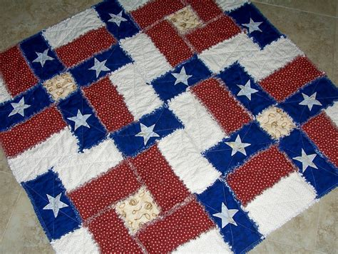 Raggedy Quilt Pattern by Pdf Pattern Flag Rag Quilt Pattern Can Be Made With