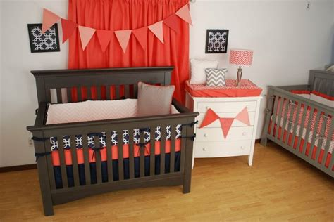 coral and navy crib bedding coral and navy crib bedding with pine creek bedding s