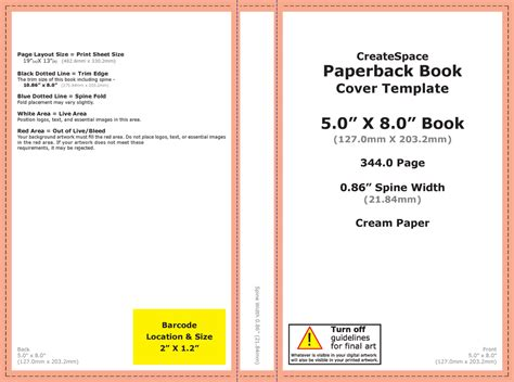 Diy Book Cover Design Part 3 Setting Up Your File Jg 4 25 X 5 5 Booklet Template