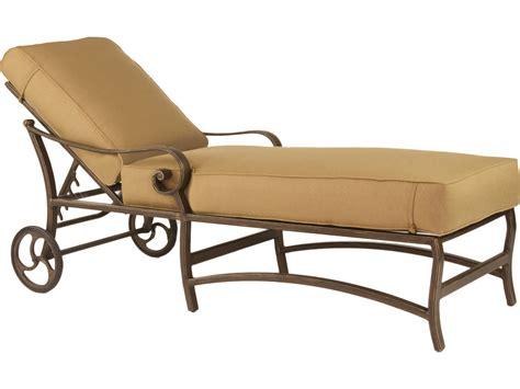 cast aluminum chaise lounge with wheels castelle veracruz cast aluminum cushion adjustable chaise