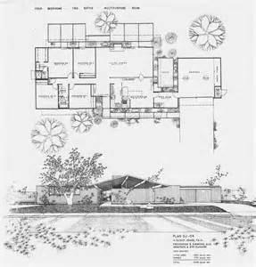 Eichler Floor Plans by Joseph Eichler Homes Modern House Mid Century Floor
