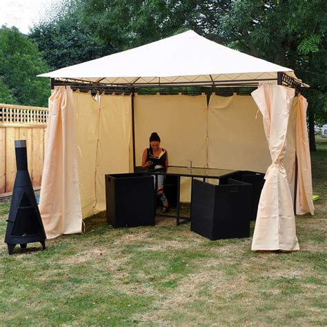 gazebo curtains for sale heavy duty garden gazebo with side curtains on sale fast