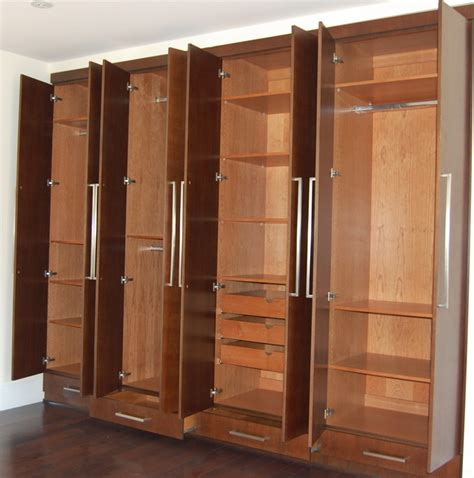 Storage Closet With Doors Closets Cabinets Modern Closet Los Angeles By D O Cabinets Inc